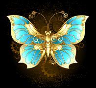 Mechanical Butterfly - stock illustration