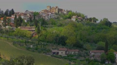 Beautiful Italian landscape at Panzano in Tuscany, in the Chianti wine area Stock Footage