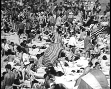 Australians at the Beach, 1950s (Archive Footage) Stock Footage