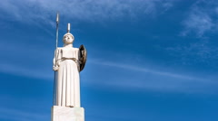 Statue of the greek Godess Athena - Athens, Greece - stock footage