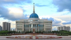 Akorda – the residence of the President of the Republic of Kazakhstan Stock Footage