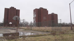 Detroit: Brewster Project Buildings Stock Footage