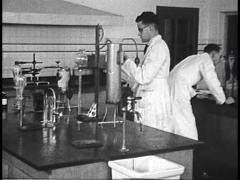 Scientific Laboratory, Men in Coats (Archival Footage) Stock Footage
