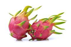 Dragonfruit on white background Stock Photos