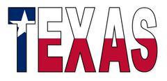 Texas Text Flag Piirros