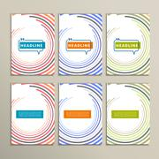 Round color lines on a white background - stock illustration