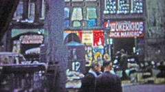 COPENHAGEN - 1966: Outdoor market selling 2nd hand goods and services. Stock Footage