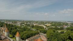 Tallinn in Estonia - looking down Stock Footage