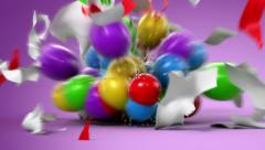 Happy Birthday, funny 3d animation - stock footage