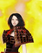 Japanese Samurai Woman Stock Illustration
