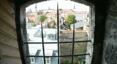 Tallinn in Estonia Old Town from ramparts room - stock footage