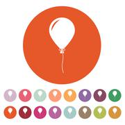 Stock Illustration of The balloon icon. Holiday symbol. Flat