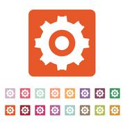 Stock Illustration of The gear icon. Settings symbol. Flat