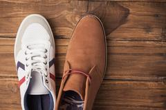 Casual and dressy mens shoes - stock photo