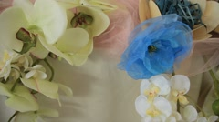 Many Wedding Decorations Stock Footage