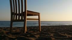 Beach, sun and a chair Stock Footage