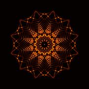 Abstract cosmic fireball - stock illustration