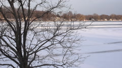 Time Lapse: Winter Changing Elements. Sun To Fog Stock Footage