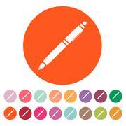 The ballpoint pen icon. Pen symbol. Flat. Vector - stock illustration