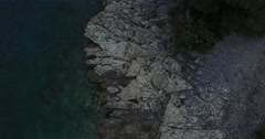 Coastline in Dalmatian coast. Drone aerial scene from top to panoramic view. Stock Footage