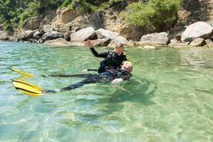 Diver Rescue - stock photo