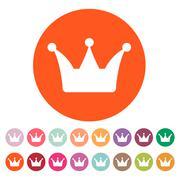 The crown icon. Crown symbol Stock Illustration