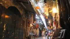 Street of Old City of Jerusalem Timelapse - stock footage