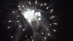 CN Tower Fireworks, 2015 Toronto Pan Am/Parapan Am Games Stock Footage
