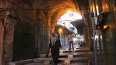 Walking in Jerusalem Timelapse - stock footage