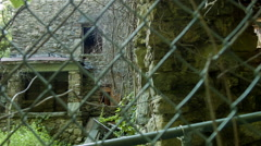 Overgrown ruins, an abandoned castle in woods - stock footage