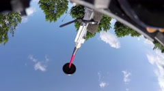 HighTech Drone camera going crazy filming itself for a while 4k Stock Footage