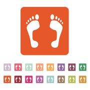 Stock Illustration of The footprint icon. foot symbol. Flat