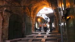 Walking in The Holy City of Jerusalem Day by Day - stock footage