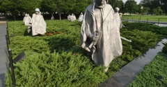 Korean War Memorial Establishing Shot Stock Footage
