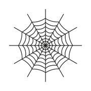 The spiderweb icon. Web symbol. Flat - stock illustration