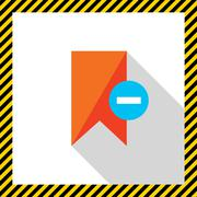 Remove from tags icon - stock illustration