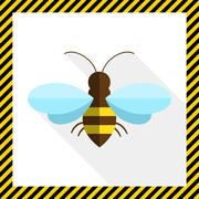 Bee icon - stock illustration