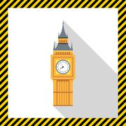 Big Ben icon - stock illustration