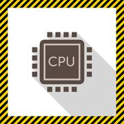 Central processing unit - stock illustration