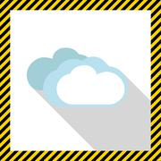 Cloudy weather - stock illustration