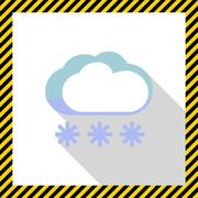 Cloudy with heavy snow - stock illustration