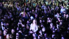 Crowd of people on the concert Stock Footage