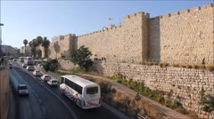 Jaffa Stree and Wall in the The Holy City of Jerusalem Day by Day - stock footage