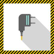Electric plug - stock illustration