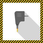 Electric plug icon Stock Illustration