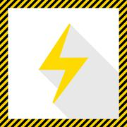 Lightning icon - stock illustration