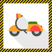 Motorbike - stock illustration