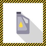 Plastic bottle of engine oil - stock illustration