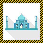 Taj Mahal icon Stock Illustration