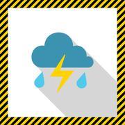 Thunderstorm icon Stock Illustration